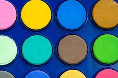 Nuovi acquerelli vibranti Fotografia Stock