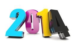 2014 nuovi anni Immagini Stock Libere da Diritti