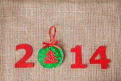 2014 nuovi anni Fotografia Stock Libera da Diritti