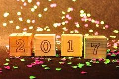 2017 nuovi anni Immagini Stock