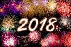 2018 nuovi anni Immagini Stock