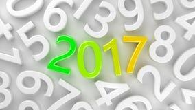 2017 nuovi anni Immagine Stock Libera da Diritti