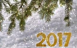 2017 nuovi anni Immagini Stock Libere da Diritti