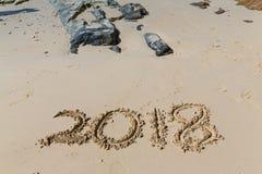2018 nuovi anni Fotografia Stock