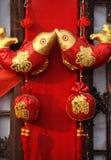Nuovi anni cinesi di decorazioni Fotografia Stock