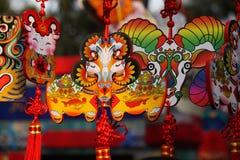 Nuovi anni cinesi di decorazioni Fotografia Stock Libera da Diritti