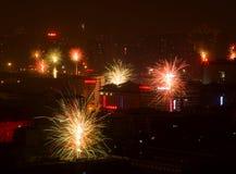 nuovi anni cinesi di vigilia Fotografie Stock Libere da Diritti