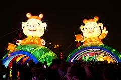 2019 nuovi anni cinesi in Xian immagini stock libere da diritti