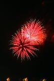 Nuovi anni dei fuochi d'artificio Fotografia Stock Libera da Diritti