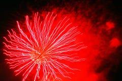 Nuovi anni dei fuochi d'artificio Fotografie Stock Libere da Diritti