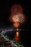 Nuovi anni 2014 - dei fuochi d'artificio celebrazione 2015 Fotografie Stock Libere da Diritti