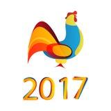 2017 nuovi anni del gallo Fotografia Stock Libera da Diritti