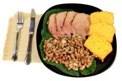 Nuovi anni del sud americani serviti di tradizione pasto di giorno Fotografia Stock