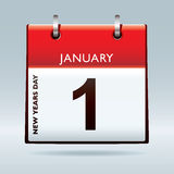 Nuovi anni di calendario di vigilia Immagini Stock Libere da Diritti