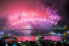 Nuovi anni di celebrazione Sydney Australia Immagine Stock