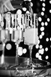 Nuovi anni di Champagne Immagini Stock