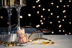 Nuovi anni di Champagne Immagine Stock Libera da Diritti
