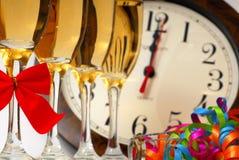 Nuovi anni di Champagne Fotografie Stock Libere da Diritti