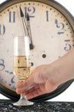 Nuovi anni di champagne Fotografia Stock