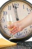 Nuovi anni di champagne Fotografia Stock Libera da Diritti