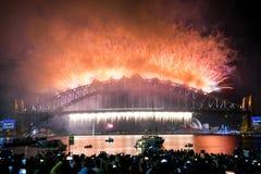 Nuovi anni di Eve Sydney Australia Fotografie Stock