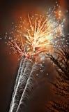 Nuovi anni di fuochi d'artificio Fotografie Stock Libere da Diritti