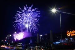 Nuovi anni di fuochi d'artificio Immagine Stock