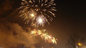 Nuovi anni di fuochi d'artificio Fotografie Stock