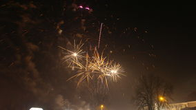 Nuovi anni di fuochi d'artificio Immagini Stock