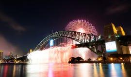 Nuovi anni di fuochi d'artificio, Australia Fotografia Stock Libera da Diritti
