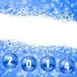 2014 nuovi anni di illustrazione Immagini Stock