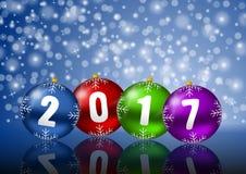 2017 nuovi anni di illustrazione Fotografia Stock