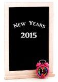 Nuovi anni di lavagna 2015 Immagine Stock