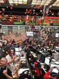 Nuovi anni di Ministero del commercio del Chicago la sfuocatura di movimento Fotografia Stock