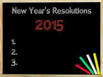 Nuovi anni di risoluzioni 2015 Fotografia Stock