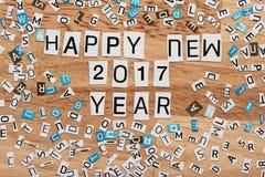 2017 nuovi anni felice Immagini Stock