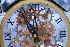 Nuovi anni felici di orologio Fotografie Stock Libere da Diritti