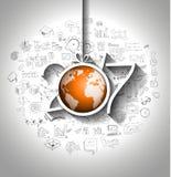 2017 nuovi anni Infographic e fondo del business plan Immagine Stock
