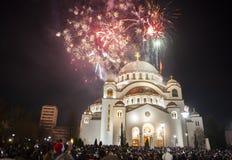 Nuovi anni serbi di celebrazione di vigilia Immagine Stock Libera da Diritti