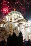 Nuovi anni serbi di celebrazione di vigilia Fotografie Stock