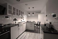 Nuovi armadi da cucina Fotografia Stock