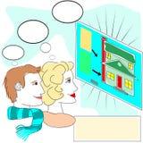 Nuovi compratori domestici illustrazione vettoriale