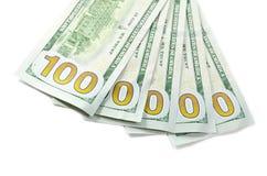 Nuovi 100 $ di contanti Fotografie Stock Libere da Diritti