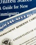 Nuovi documenti residenti degli Stati Uniti Fotografie Stock