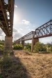 Nuovi e vecchi ponti ferroviari, Macrossan Fotografia Stock Libera da Diritti