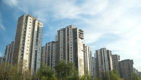 Nuovi edifici di Belgrado fotografia stock libera da diritti