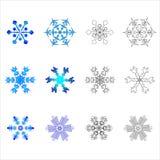 Nuovi fiocchi di neve Fotografie Stock Libere da Diritti