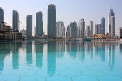 Nuovi grattacieli Doubai del centro Immagine Stock Libera da Diritti