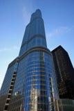 Nuovi hotel e condominio moderni in Chicago Fotografia Stock Libera da Diritti