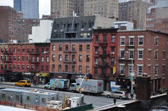 Nuovi Jork edifici di Manhattan Fotografia Stock